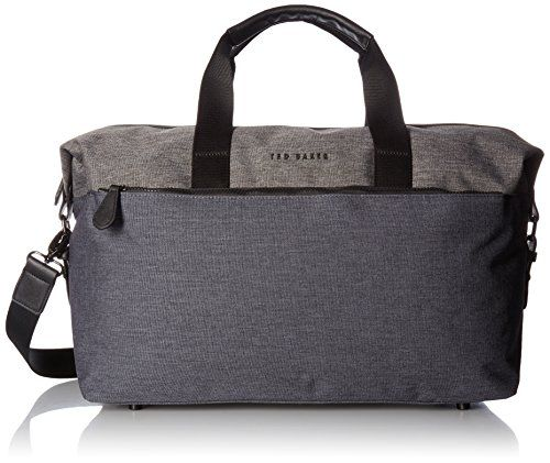 b8148a62461b60 Ted Baker Mens Hamahed Nylon Holdall Charcoal     Details can be found by  clicking