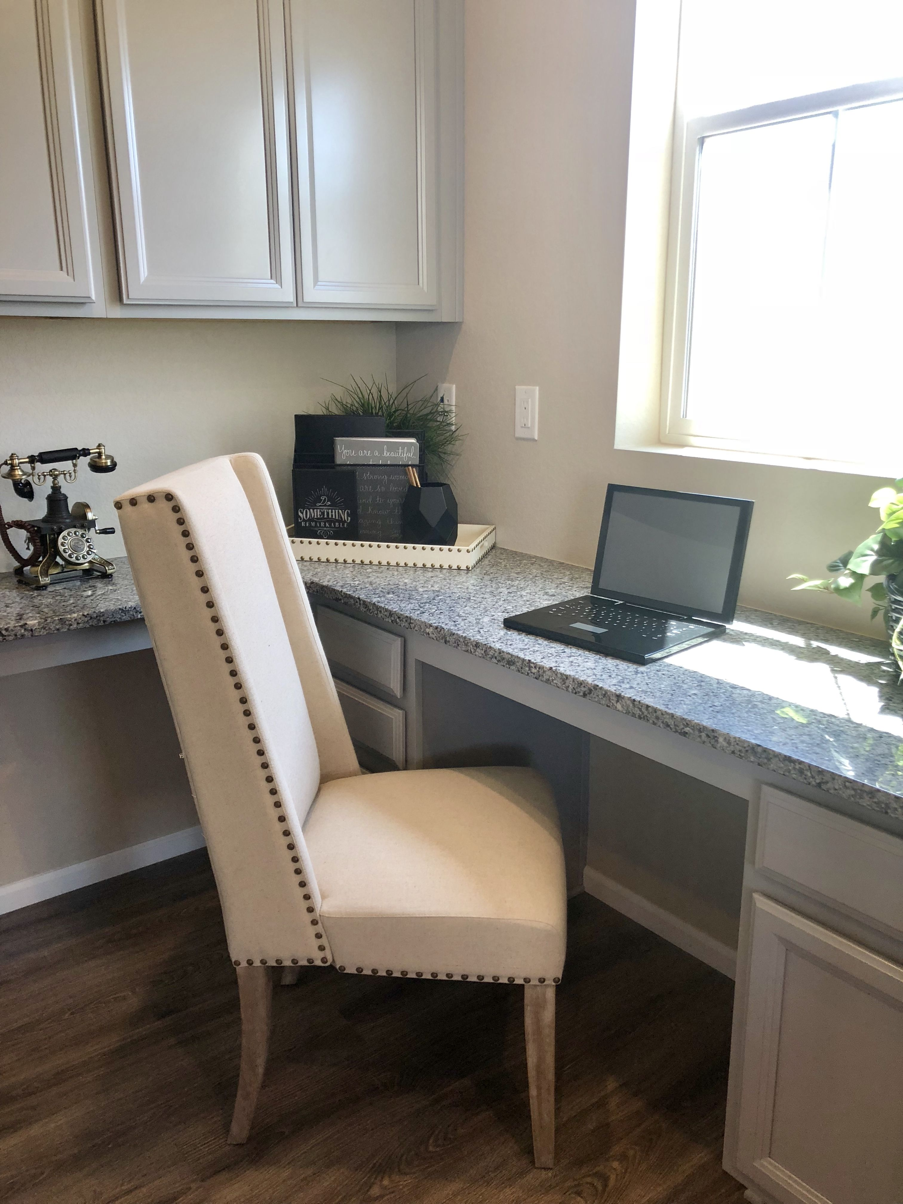 love the idea of a built in desk off the kitchen learn more about rh pinterest com