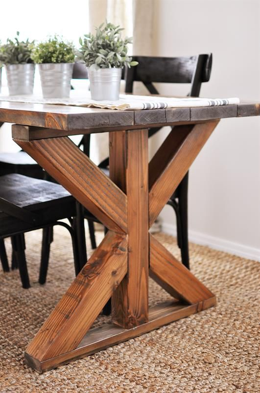 40 Amazing Farmhouse Table Plans Concept That You Can Create By