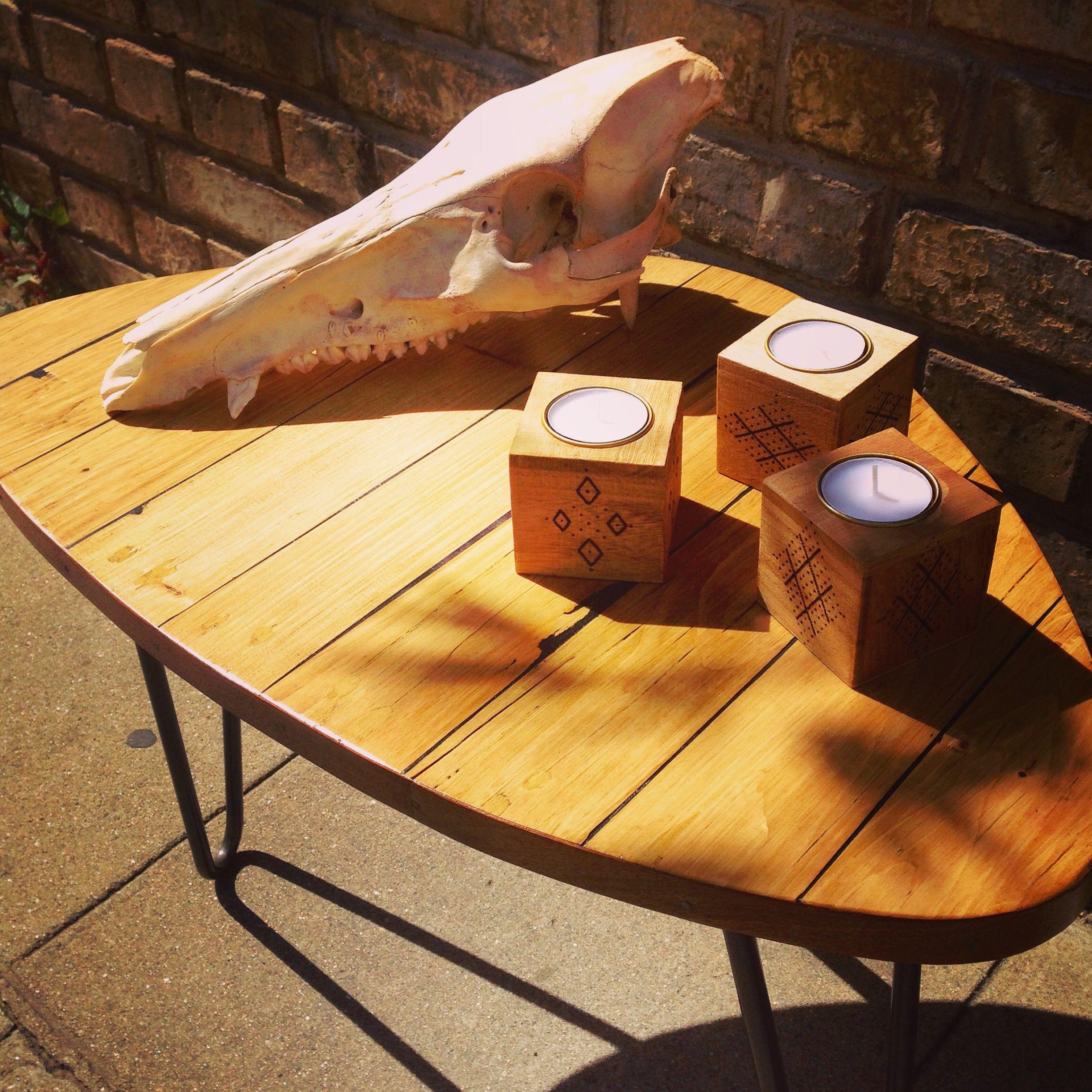 Table Basse Fabriqu En Bois De Palette Pi Tement Ripaton  # Table Basse Recup