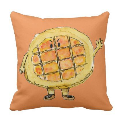 Funny Treacle Tart Quirky Cartoon Cute Cake Art Throw Pillow Zazzle Com Funny Cake Cake Art Throw Pillows
