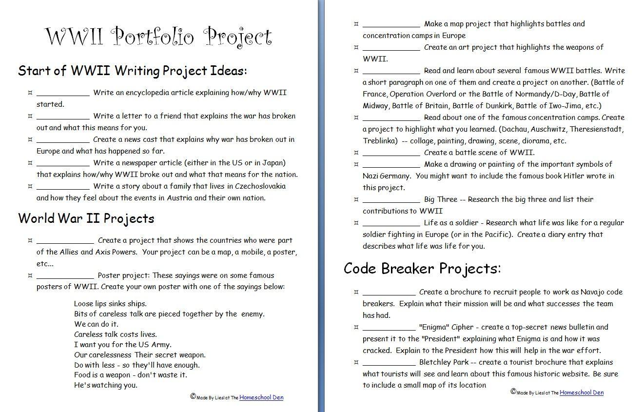 Wwii Portfolio Project