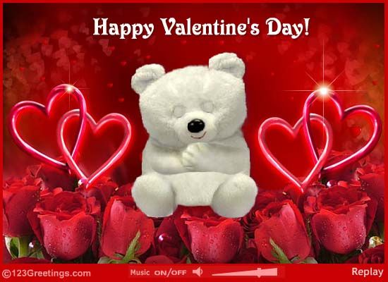 send love and hugs and wish a very happy valentines day with this ecard free online valentines day love hugs ecards on valentines day - Happy Valentines Day Pictures Free