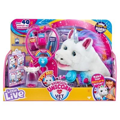 Little Live Rainglow Unicorn Vet Set In 2020 Little Live Pets Unicorn Toys Unicorn Treats