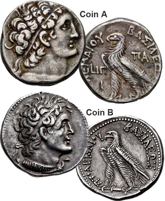 Coin Value Ancient Greece Ptolemaic Kingdom Tetradrachm
