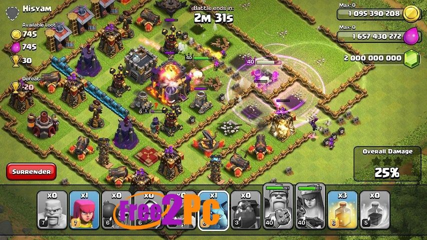 Clash Of Clans Unlimited Apk Free Download Www Free2pc Com Clash