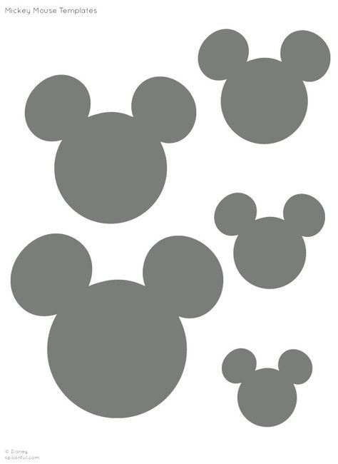 30 mickey mouse stickers 1.5 round