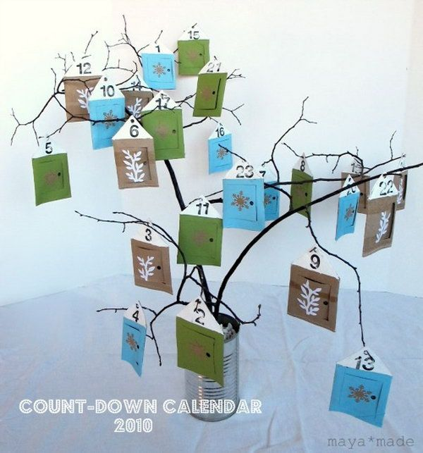 Make Advent Calendars for Christmas Advent calendars, Count and Crafts