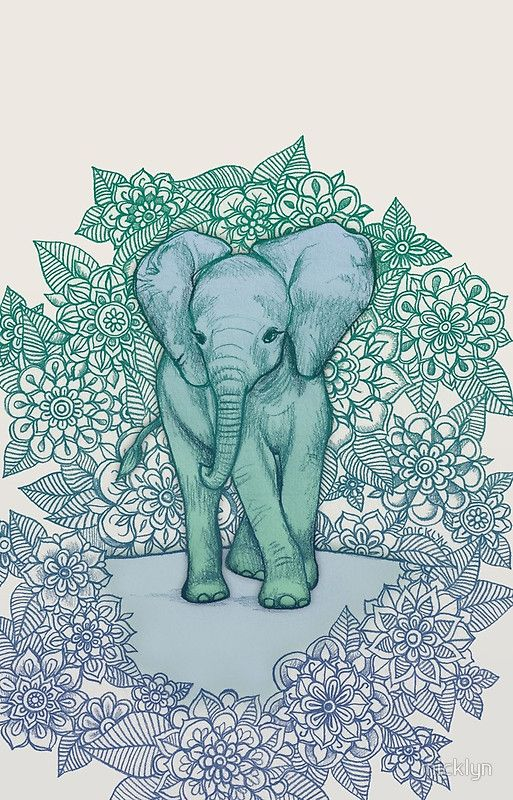Emerald Elephant In The Lilac Evening Iphone Case By