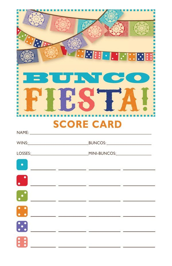 Buncoprintables - Printable Bunco Score Cards, Tally Sheets, Name