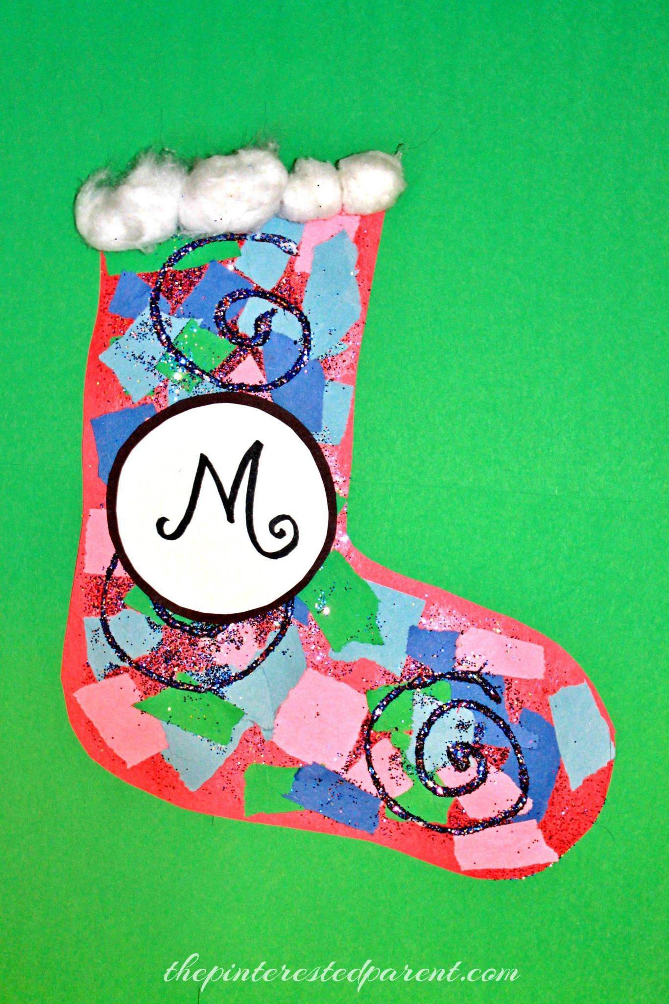 Torn Paper Christmas Stockings