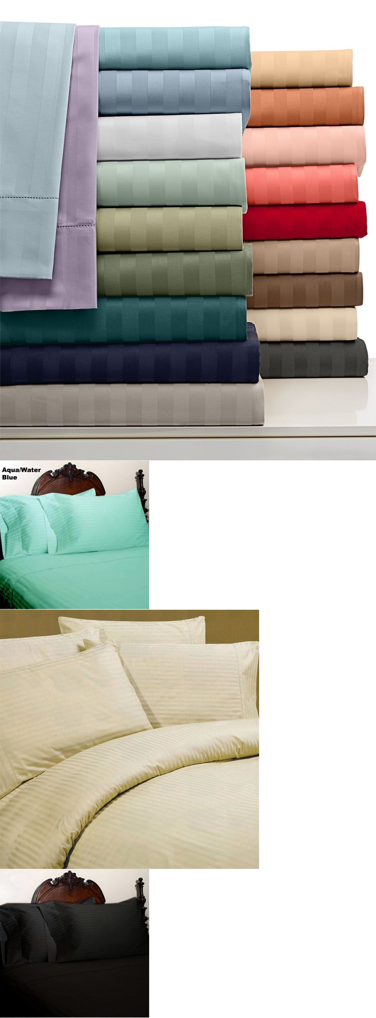 Sheets and pillowcases bed sheet set stripe all colors and