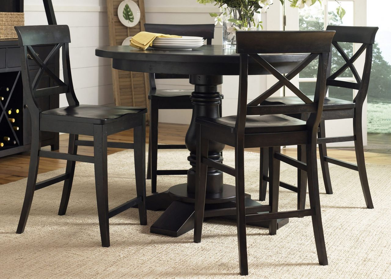 Home Gallery Furniture For Round 5 Pc Sundance Lake 48 Counter Height Pedestal Table Set