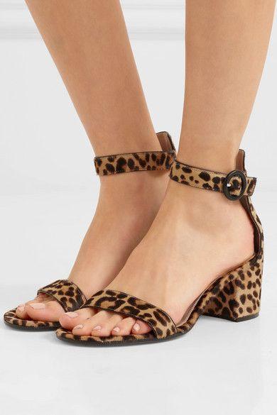 Portofino 60 Leopard-print Calf Hair Sandals - Leopard print Gianvito Rossi XYnUKAXsf