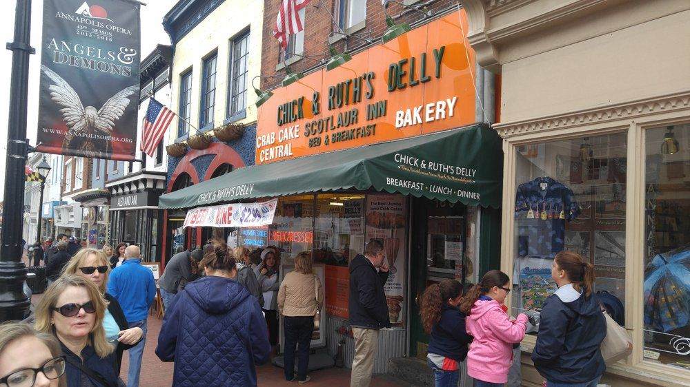 These 10 Restaurants In Maryland - Chick & Ruth's Delly - Annapolis MD Crab & Cheese Omelet #125
