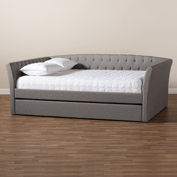 Yehuda Daybed With Roll Out Trundle Bed In 2020 Daybed