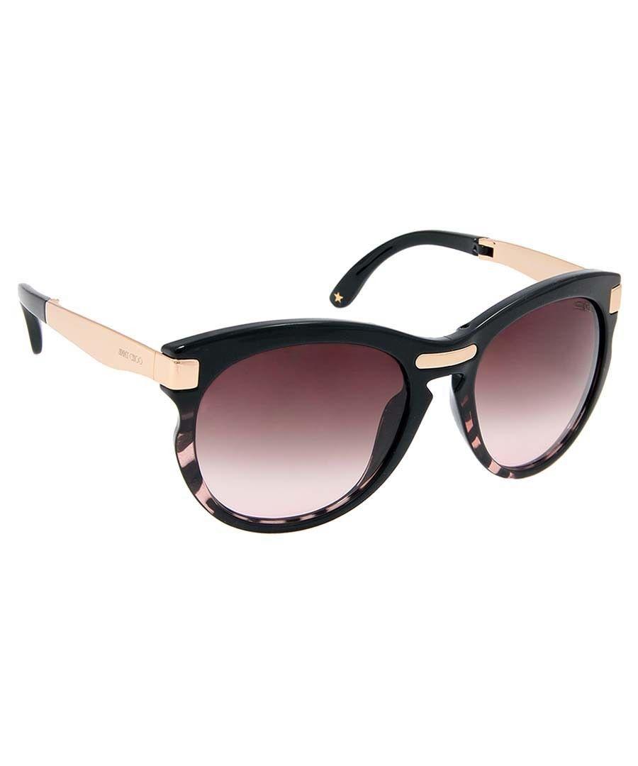 c9bdd4e5f67a Jimmy Choo Lana rounded black sunglasses