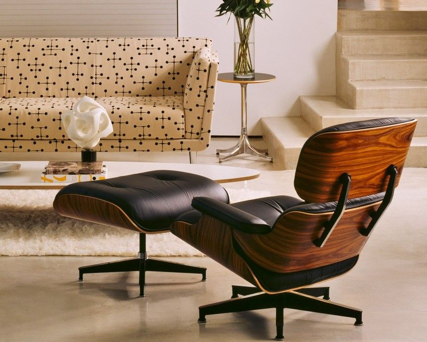 Herman Miller Eames style lounge chair, Eames lounge