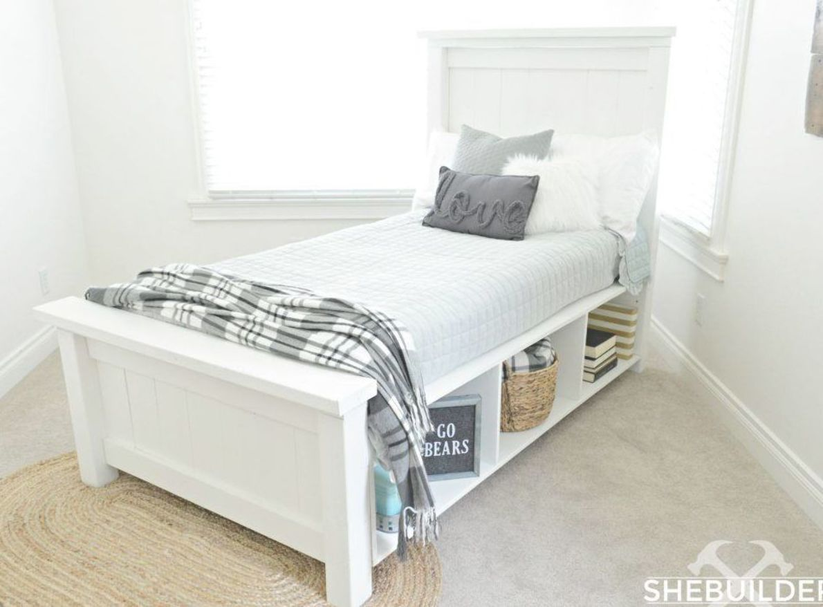 Traditional Farmhouse Bed Diy Farmhouse Bed Bed Frame With Storage Farmhouse Bedding