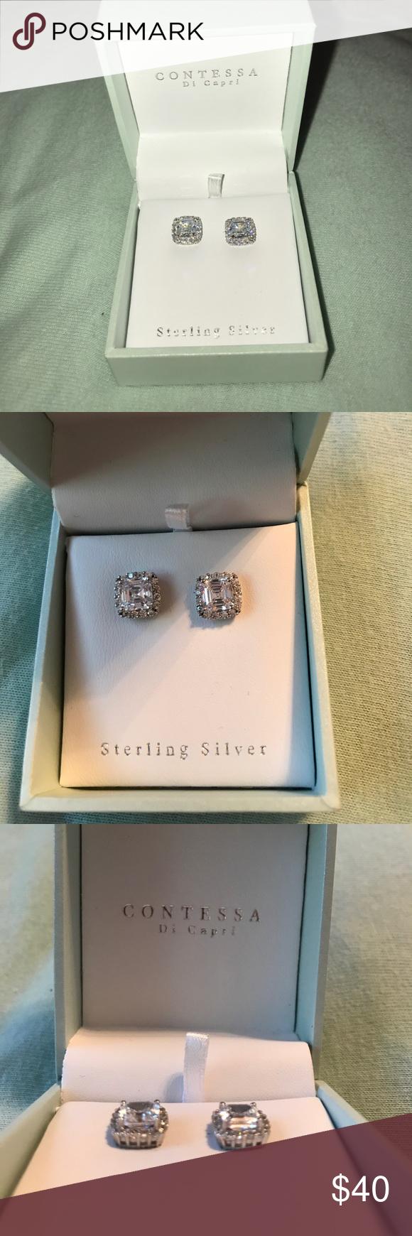 e46f4f4d4 Contessa Di Capri Stud Earrings BRAND NEW stunning Contessa Di Capri  sterling silver stud earrings! Make an offer! 😊 Jewelry Earrings