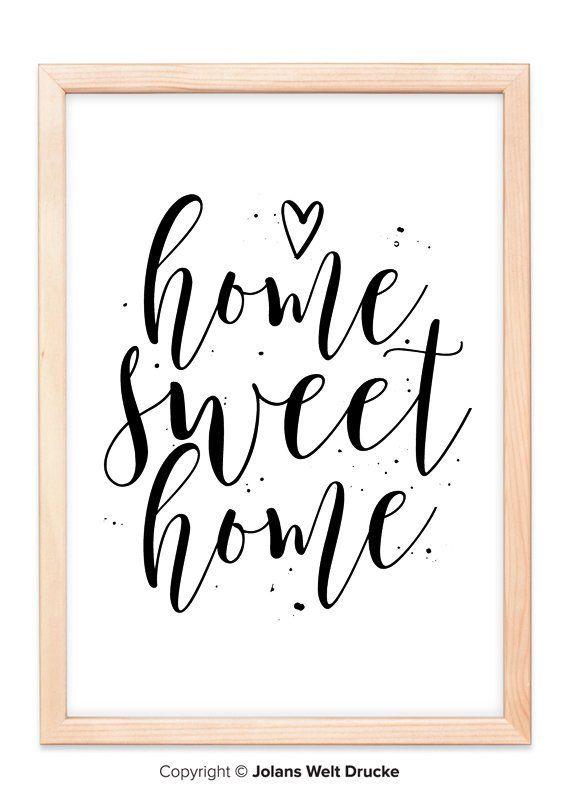 Druck FINE ART  Bild Poster  *HOME SWEET HOME*  Print Kunstdruck