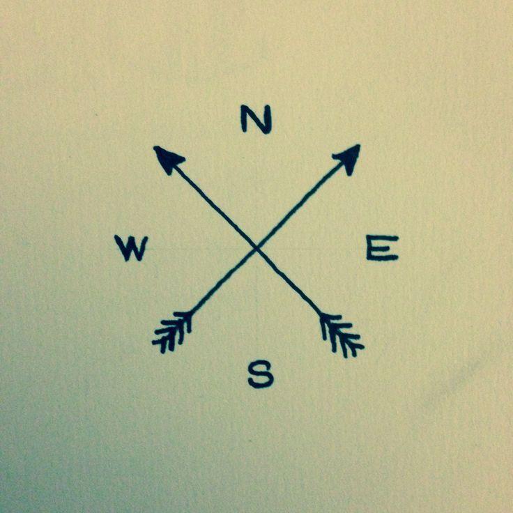 simple arrow compass tattoo - Google Search Elyssia Tattooed