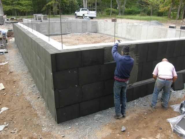 Expensive Foamglas Below Grade House Exterior Outdoor Storage Passive House
