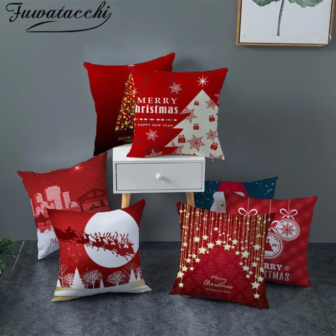"18x18/"" Christmas Pillow Case Sofa Car Throw Cushion Covers Home Decor Novelty"
