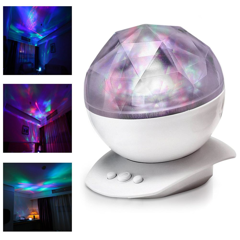 Color Changing Led Light Lamp Aurora Star Borealis Projector Kid ...