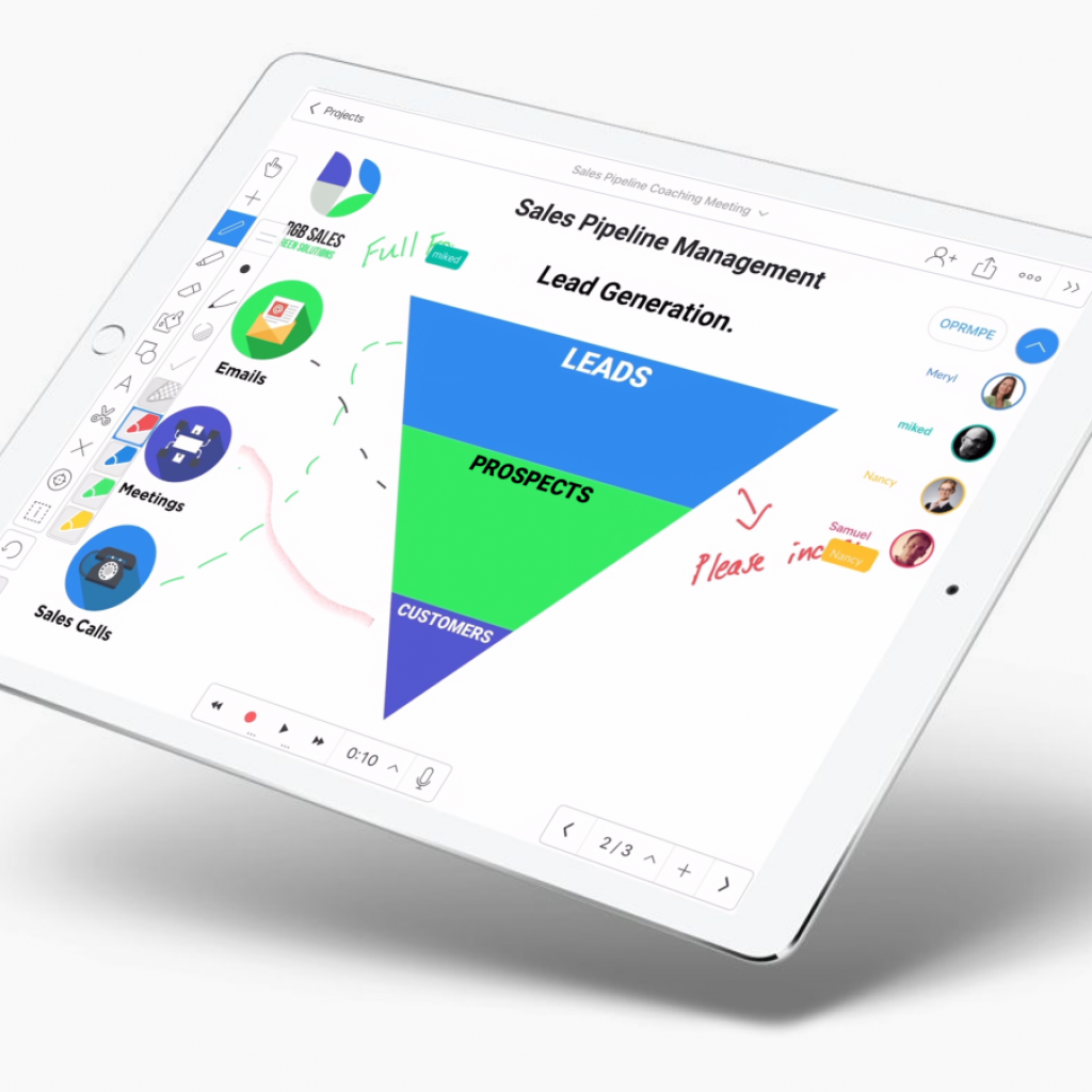 Explain Everything is an interactive whiteboard app that