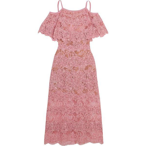 bd62772d6267 Elie Saab Off-the-shoulder cotton-blend macramé lace dress (24.710 ...
