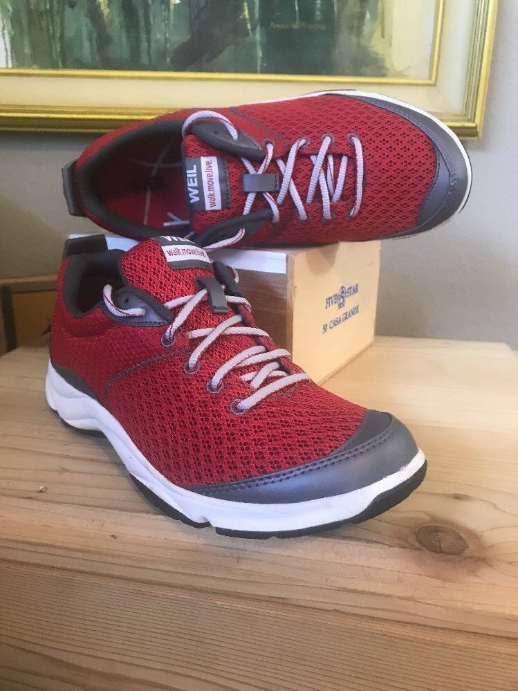 Women Athletic Walking Shoes US7, Red