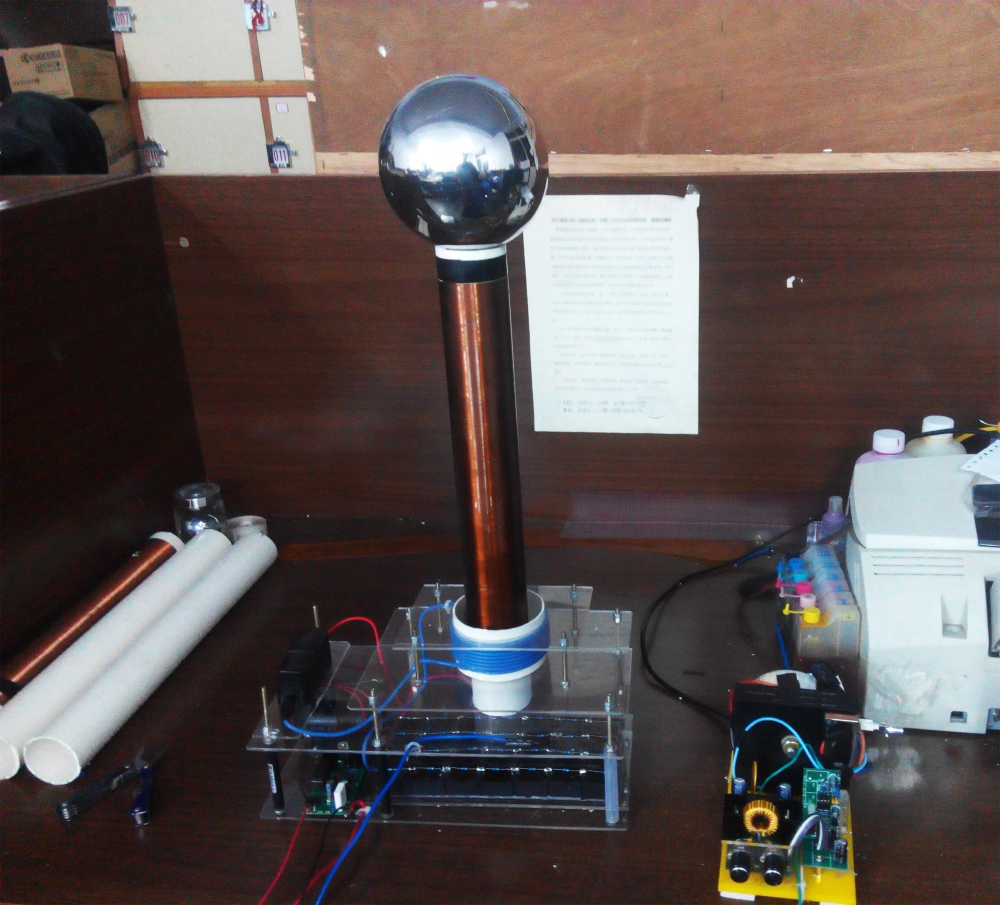 Tesla Coil Desktop Level Integrated Solid State (With images)