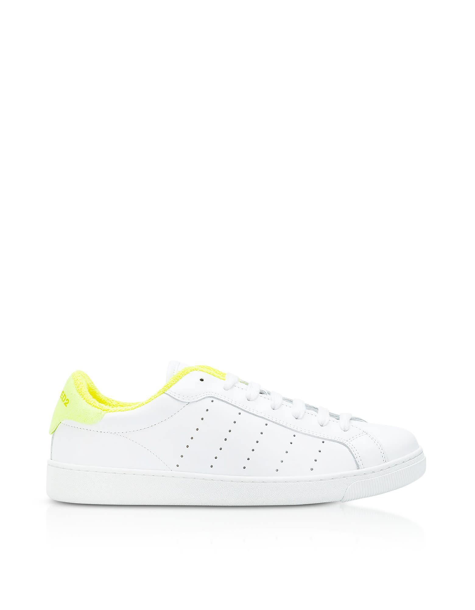 Dsquared2 Shoes, and Neon Leather Women's Low Top Sneakers