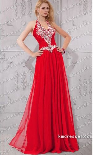 elegant heavily beaded halter V-neck chiffon gown.prom dresses,formal dresses,ball gown,homecoming dresses,party dress,evening dresses,sequin dresses,cocktail dresses,graduation dresses,formal gowns,prom gown,evening gown.