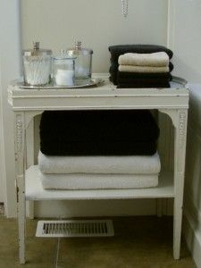 little table for next to the bath tub!