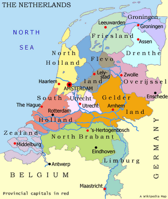 Map Of The Netherlands And Germany.Map Of Nederland Maps Holla