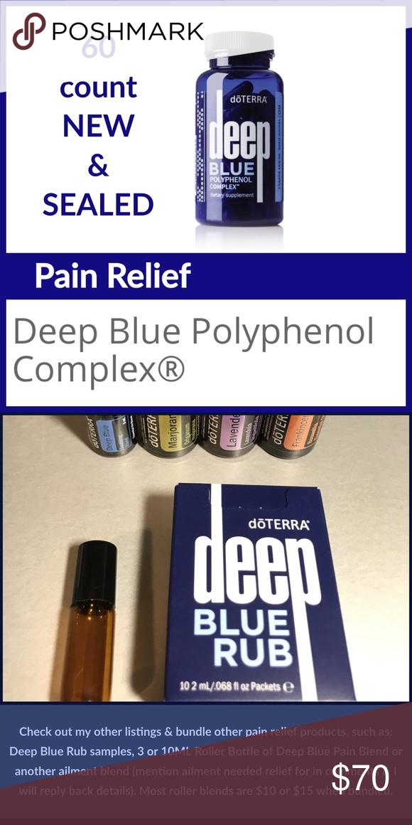 Doterra Deep Blue Polyphenol Complex Helps Pain Nwt My Posh