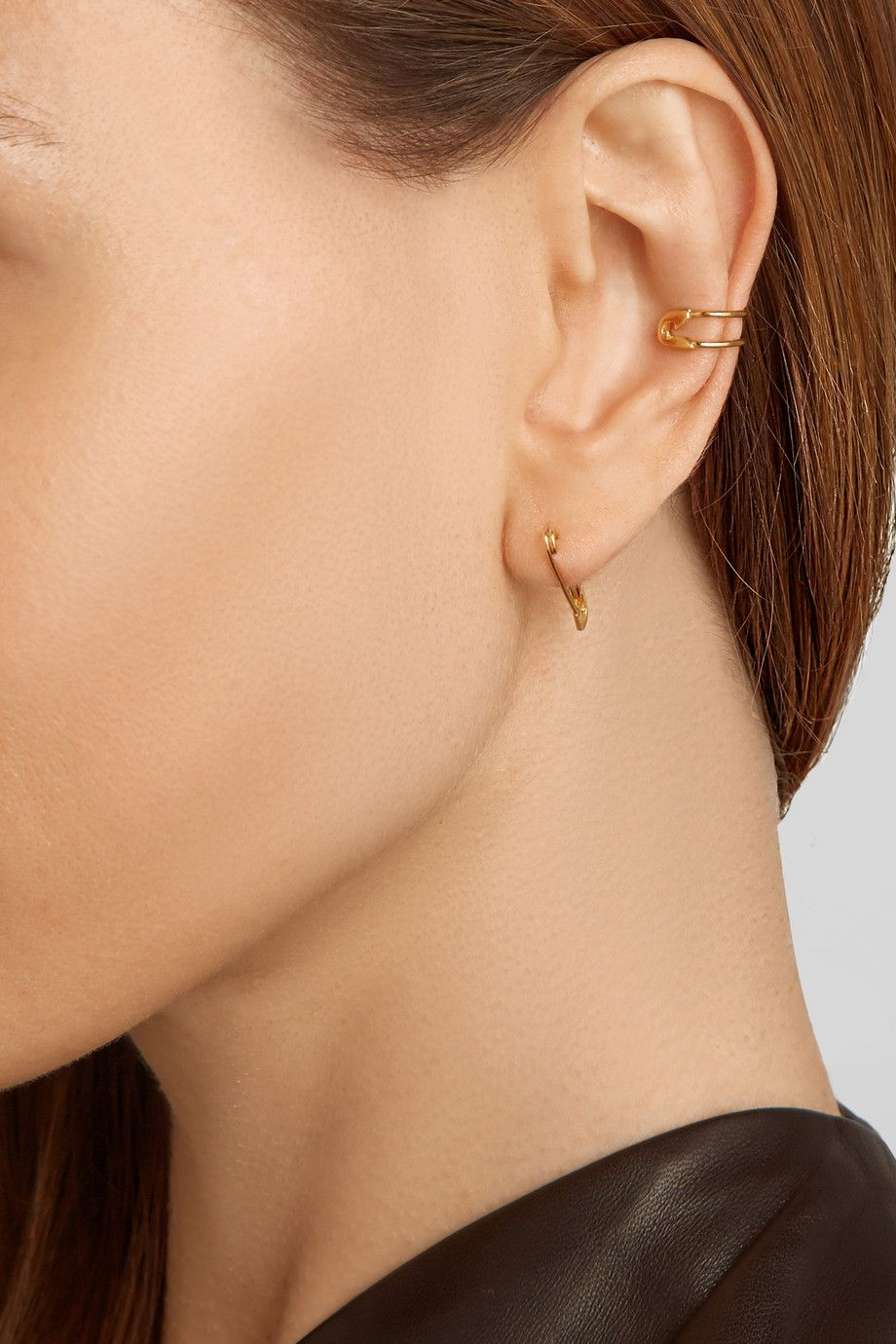 Iam By Ileana Makri  Safety Pin 10karat Gold Ear Cuff