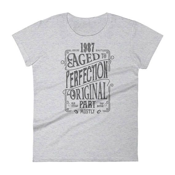 1987 Birthday Gift Vintage Born In T Shirt For Women 31st Her Made 31 Year Old MadeIn1987