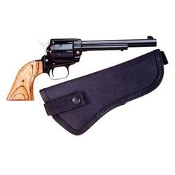 Heritage Rough Rider Revolver Single Action Army .22 LR And .22 Magnum 6.5 Barrel 6 Rounds Alloy Frame Wood Grips Fixed Sights with Nylon Holster 22MB6HOL