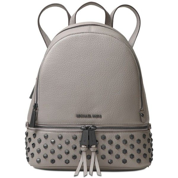 cec06aa56d5f Michael Michael Kors Rhea Zip Medium Backpack ($358) ❤ liked on Polyvore  featuring bags, backpacks, pearl grey, day pack backpack, michael kors  backpack, ...