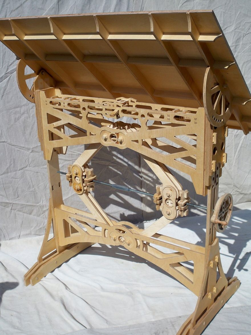 Delightful Speaking Of Drafting Tables, Carpenter Sean Headrick Decided To Build His  Own Out Of Baltic