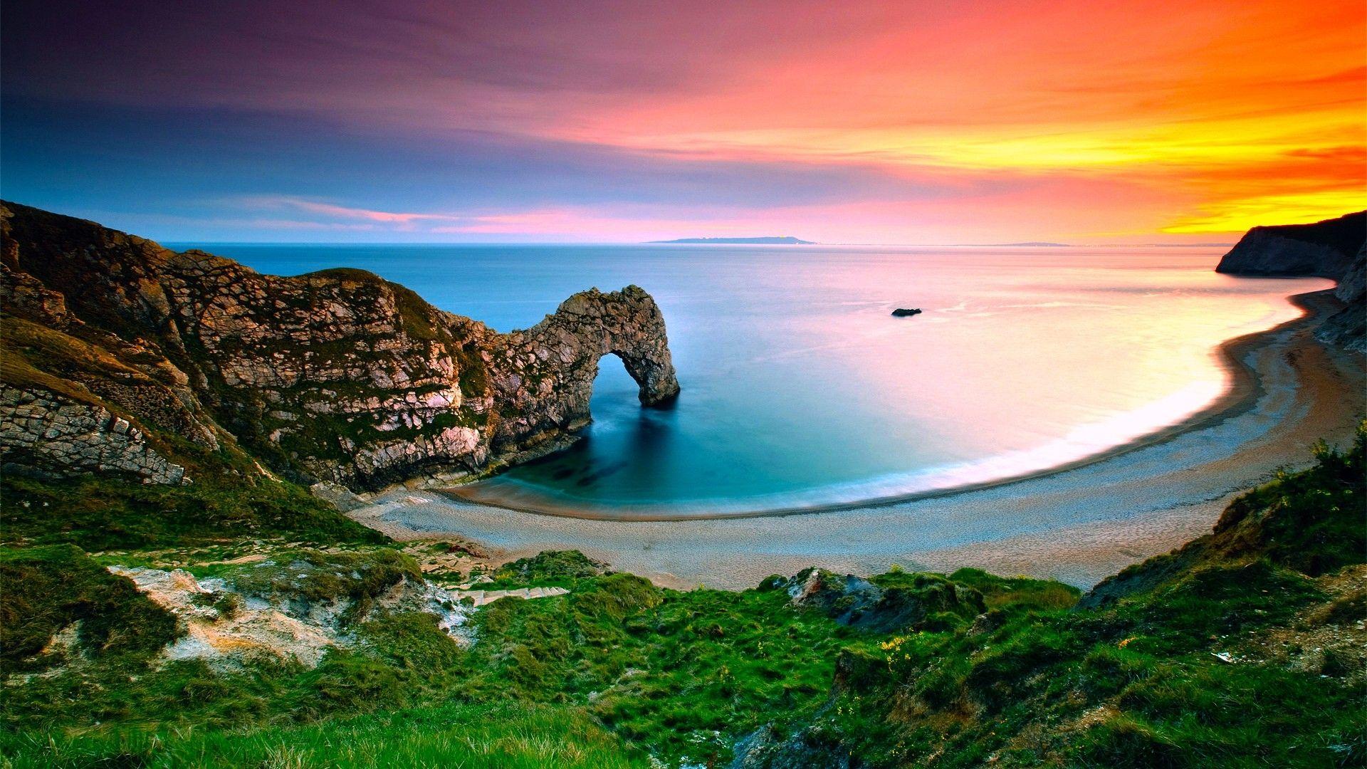 landscap wallpaper |  landscape ocean beach hd desktop wallpaper
