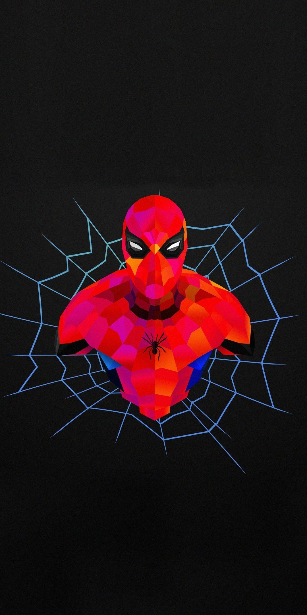 Spider Man Abstract Minimal 1080x2160 Wallpaper Superhero