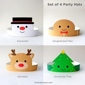 Christmas Party Hats for Kids/Adults, Christmas Pa