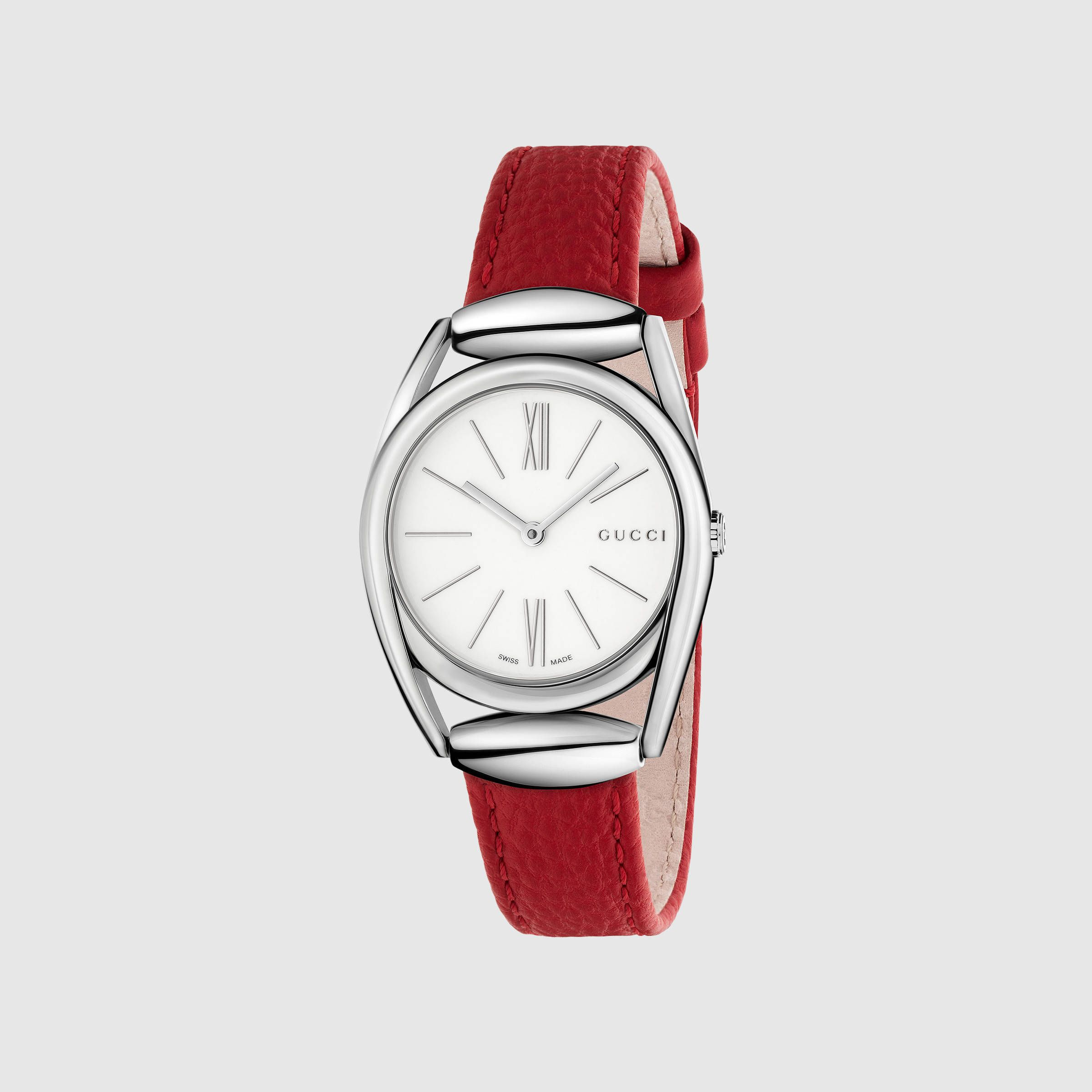 pin and fits thin two red plated the hour leather bezel watches wrist hands with gold markers