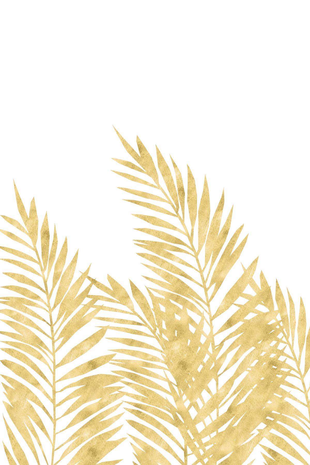 Palm Leaves Golden Wallpaper Golden Wallpaper Palm Leaf Wallpaper Golden Wall