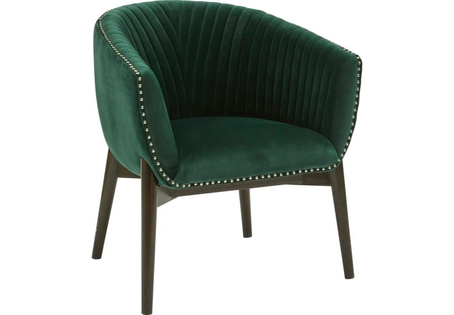 Archie Curve Green Accent Chair Green Accent Chair Accent