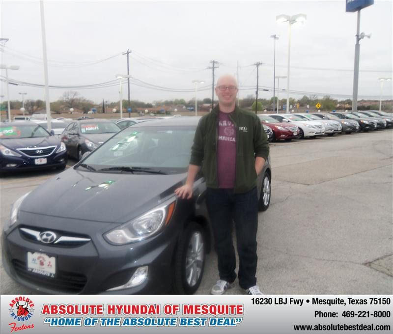 HappyAnniversary to Robert Clapsaddle on your 2013 #Hyundai #Accent
